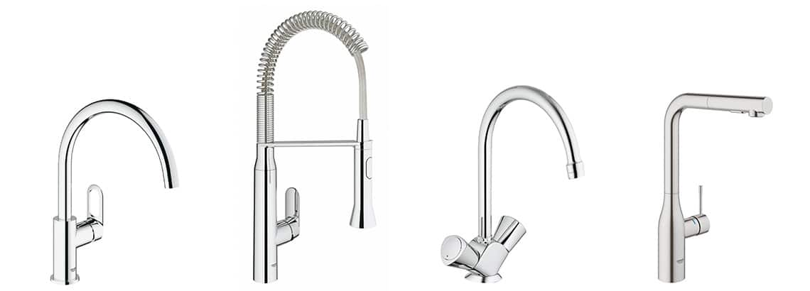robinet cuisine grohe toute la gamme robinetterie de. Black Bedroom Furniture Sets. Home Design Ideas