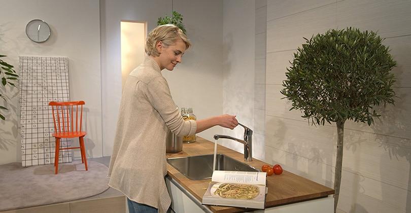 Classique et confortable : Hansgrohe mitigeur cuisine Focus E2