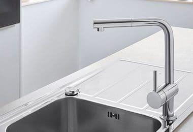 Design et pratique, GROHE Robinet de Cuisine Minta Plage de Rotation de 360° Douchette Escamotable Starlight Bec en C32321000