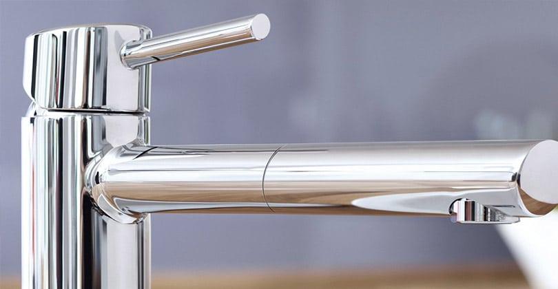 Compact et efficace, le GROHE Robinet de Cuisine Concetto Bec Medium avec Douchette Escamotable Plage de Rotation à 100° Starlight 31129001