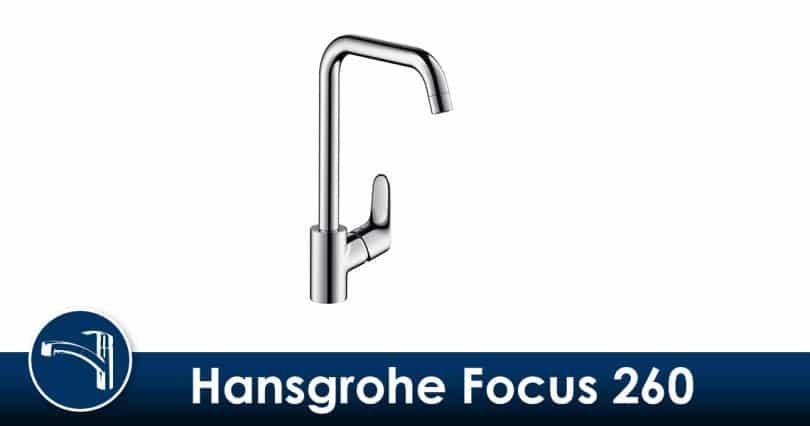 Haut et polyvalent, le Hansgrohe Mitigeur d'Evier de Cuisine Focus 260 avec Bec Orientable jusqu'à 360° Chrome 31820000